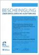 Bescheinigung über Auditierung als AltersTraumaZentrum DGU