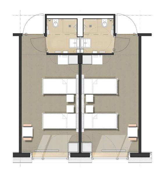 Zimmer und materialien for Motel one zimmer grundriss